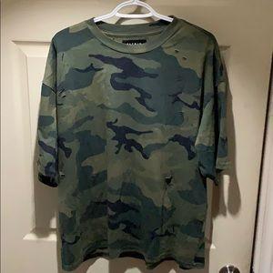 Ripped camo pacsun shirt large